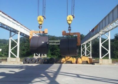 Web handling to 58,000 pound coils overhead Virginia Crane 7